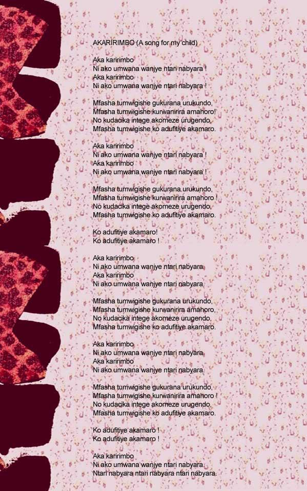 Dorothee Munyaneza - Lyrics